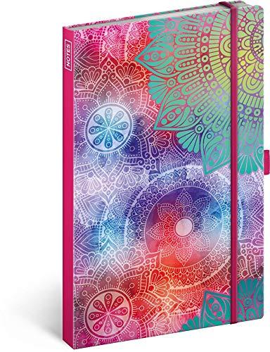 Notizbuch mit Gummiband liniert - Notizblock für Frauen und Mädchen - Tagebuch Journal Notebook für Schule und Arbeit (Mandala)