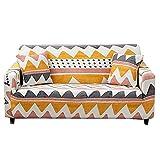 WXQY Funda de sofá con Estampado geométrico para Sala de Estar, Paquete Completo, Funda de sofá en Forma de L, Funda de sillón, Funda de sofá A7, 3 plazas