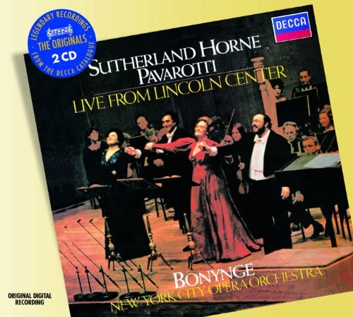 Dame Joan Sutherland, Marilyn Horne, Luciano Pavarotti, New York City Opera Orchestra & Richard Bonynge