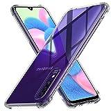 Peakally Funda Samsung Galaxy A30s / A50s / A50, Carcasa Silicona Funda para Samsung Galaxy A30s / A50s Carcasa Flexible Claro Ligero TPU Fundas [Antideslizante] [Resistente a arañazos]-Transparente