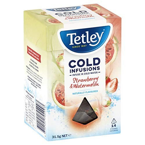 Tetley Cold Infusions Strawberry and Watermelon Tea Bags, 14 pack