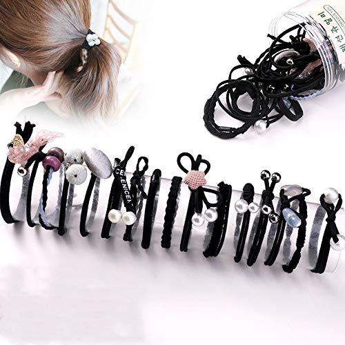 KNNSYZ Gummiband Haar Seil Kopfschmuck einfache Krawatte Haar Seil süße kleine frische Haarring