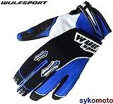 Wulf Gloves Kinder Handschuhe für Motocross, Supercross, für Kinder, Blau 3XS blau