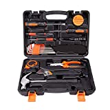 TuToy 19 In 1 Precision Hardware Kit Household Hand Tool Set Screwdriver Wrench Hammer Plier Auto Repair Woodwork Tool