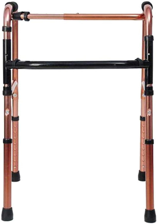 Crutches Walker, Lightweight Folding Walker, Adjustable Four-Foot Elderly Walker, Walking aid for Disabled, Standing Rack Crutch,Crutch,A