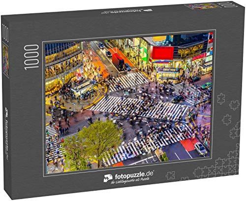 fotopuzzle.de Puzzle 1000 Teile Tokio, Japan Blick auf Shibuya Crossing, eine der belebtesten Kreuzungen der Welt