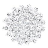 Desconocido Novia Broche Brillante Ramo Flor para Boda Fiesta Cristal Diamante Brooch Pin