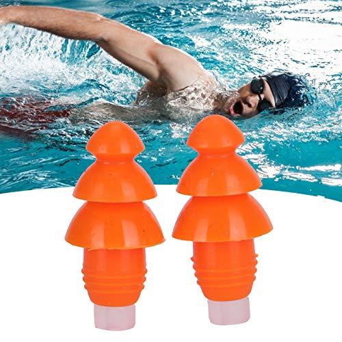 Tapones para los oídos para nadar, tapones para los oídos con cancelación de ruido Respetuosos con el medio ambiente para ducharse para dormir para nadar(Orange+PP box)