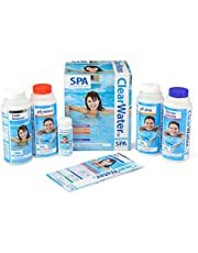 Clearwater CH0018 Lay-Z-Spa Chemical Starter Kit for Hot Tub and Spa Water Treatment (Includes Chlorine, pH Minus, pH Plus, Foam Remover and Test Strips)
