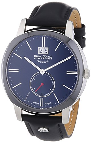 Bruno Söhnle Herren-Armbanduhr XL Analog Quarz Leder 17-73146-741