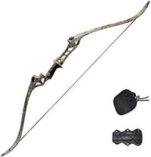 Tongtu Outdoor アーチェリー リカーブボウ 狩猟 右利き 弓道練習/競技用 30-60lbs ロングボウ 取り外し可能 組立簡単
