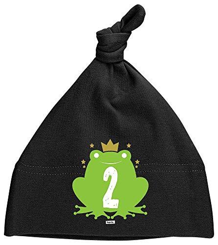Hariz - Gorro para bebé, diseño de rana, color negro