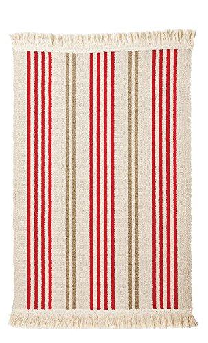 IKEA Teppich SIGNE Baumwolle 55 x 85cm (beige-rot-braun)