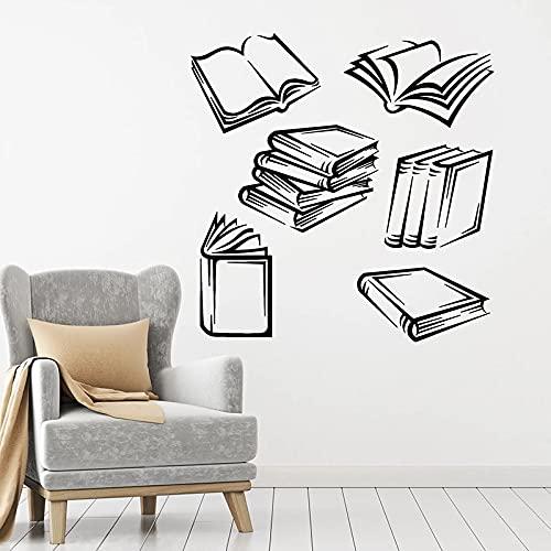HGFDHG Adesivi murali Libro Aperto libreria libreria Sala Lettura Scuola Decorazione di Interni Porte e finestre Adesivi in Vinile Carta da Parati Artistica murale Art
