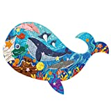 Ocean Discovery Paper Puzzle 108 Piece Cardboard Puzzles for Learning Educational Jigsaw Puzzles Christmas Birthday Gift for Boy Girl (Ocean Discovery)