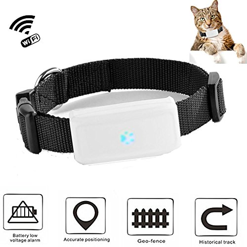 TKSTAR Mini Hunde Katzen GPS Tracker Echtzeit Locator GPS/GSM / WiFi Location Finder Wasserdichte Mini Personal Haustier GPS Tracker mit kostenlosen APP Tracking TK911 Schwarz