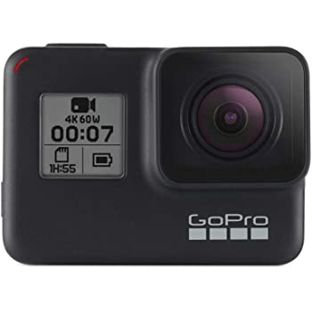 GoPro HERO7 Black — Waterproof Digital Action Camera with Touch Screen 4K HD Video 12MP Photos Live Streaming Stabilisation