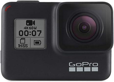 Gopro Hero7 Black - Cámara De Acción (Sumergible Hasta 10M, Pantalla Táctil, Vídeo 4K Hd, Fotos De 12 Mp, Transmisión
