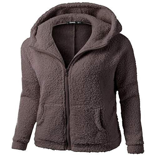 XIEPEI Amen-Jackenwinter der Plüschstrickjacke weiblicher Damen Winter Jacke warme Winterjacke Mantel