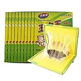 XH Trampa de Pegamento para ratón 10 PCS Trampas Adhesivas para Ratones Ratones Ratas Roedores Trampas para el Control de plagas Usar en Interiores (Color : Amarillo, Size : 400MM*255MM)