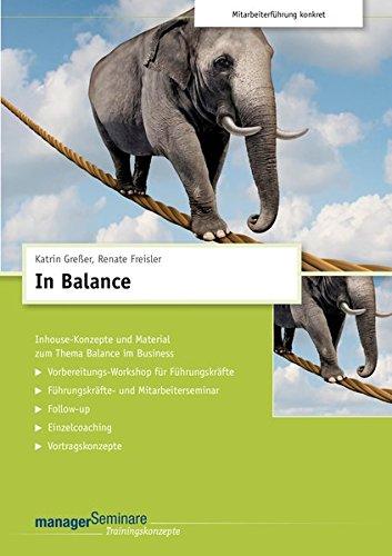 In Balance (CD-Trainingskonzept), CD-ROMInhouse-Konzepte und Material zum Thema Balance im Business