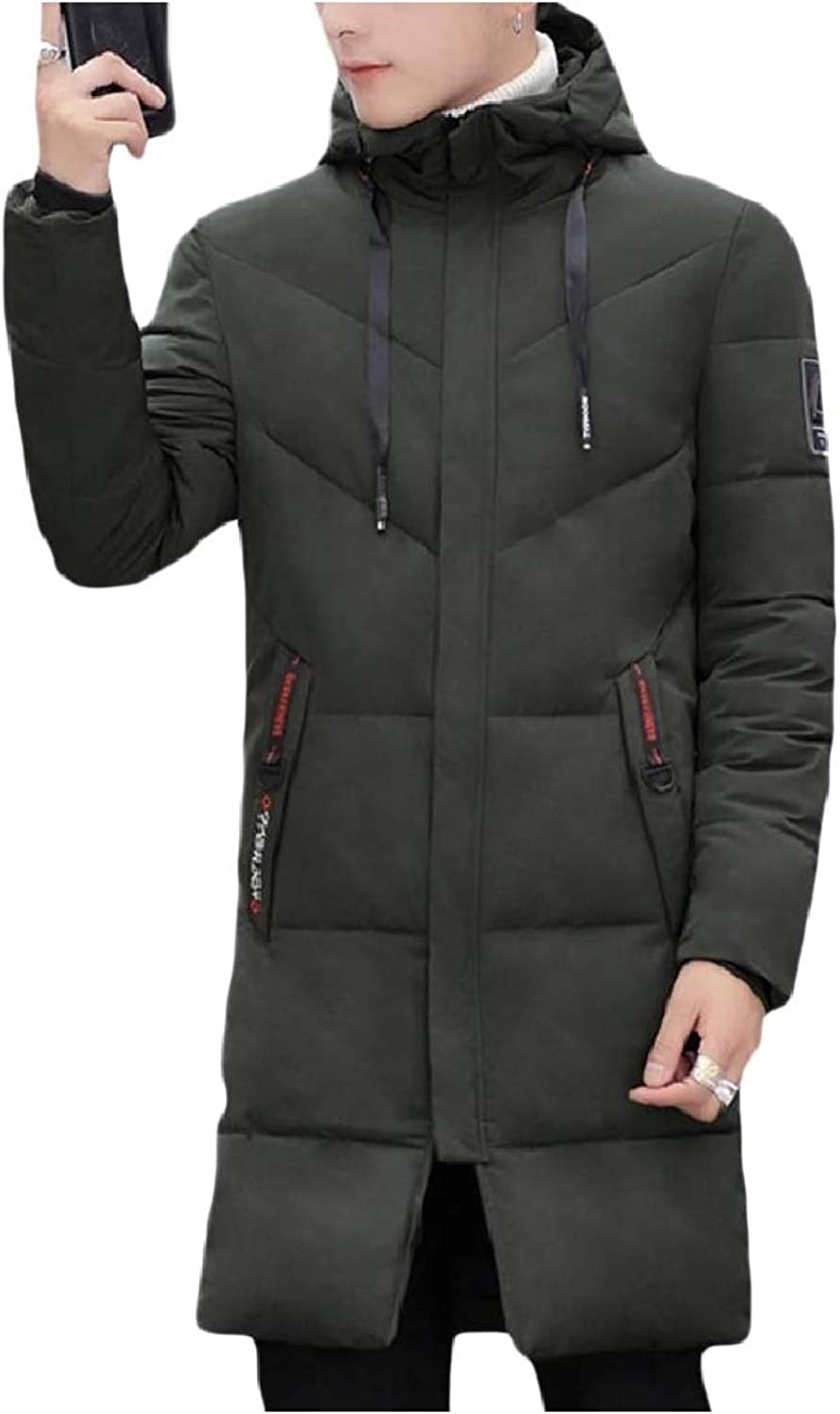 2ad71d5ca Unastar Men Men Men Hooded Brumal Down Parka Jackets Puffer Overcoat ...