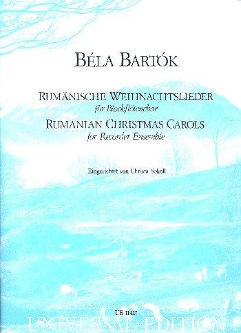 BARTOK - Canciones Rumanas de Navidad para 4 Flautas de Pico