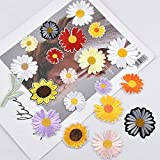 19 Pcs Patch Sticker, Ropa Parches Termoadhesivo, Parches Bordados de Flores de...