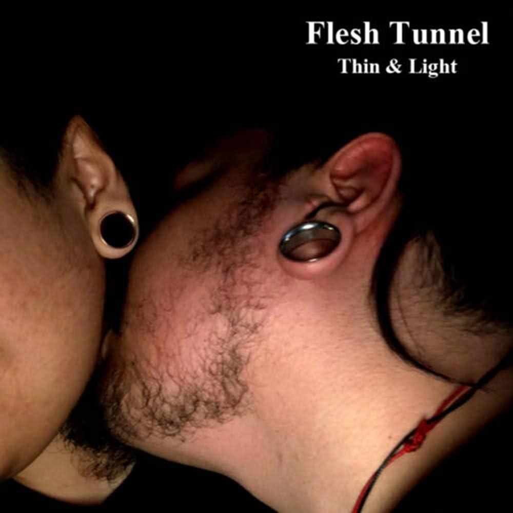 CHUANCI 3Pairs Acrylic Black Ear Taper Ear Spiral Expander Ear Plugs Surgical Steel Ear Tunnel Gauges Ear Stretcher Piercing Body Jewelry