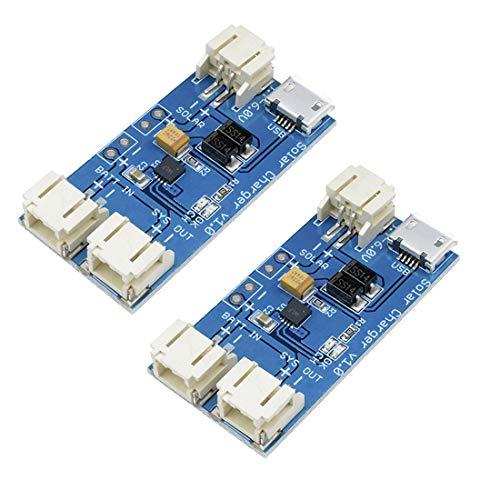 HiLetgo CN3065 Mini-Solar-Lipo-Ladegerät, Lithium-Batterie, Lade-Chip, Micro-USB, DIY, Outdoor, App, Lademodul, 2 Stück
