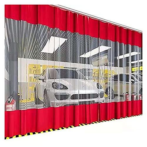 AWSAD Lona Impermeable Transparente Cortavientos Terraza Balcon Cortinas de Vinilo Transparente Impermeable Resistente Rotura Cubierta de PVC Lona Impermeable 0,5 MM