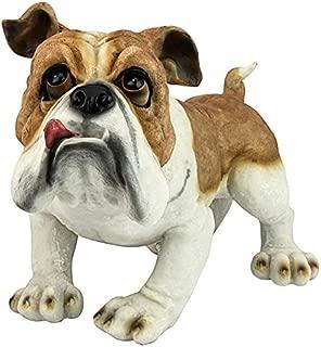 Design Toscano Winston the British Bulldog Dog Garden Statue, 11 Inch, Polyresin, Full Color