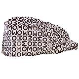 Zhendawang Süße gedruckte Arbeitsmütze, Flauschige Kappe, Turban Cap mit schweißabsorbierendem Band, verstellbare Schnürkappe, geeignet für Damen (Einstellbar Mehrfarbig)