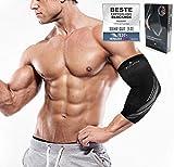 BLACKROX Ellenbogenbandage Vergleichssieger, Tennisarm Bodybulding mit Kompression für Damen &...