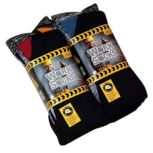 Lot de 12 Paires de chaussettes de travail ultra résistant-Bottes de sécurité-Chaussettes-Excellente qualité-chaleur et confort assurés Taille 39-45 N