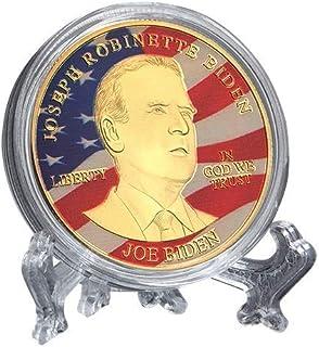 Joe Biden Coin 2020 - Gold Plated Collectible Coin, Protective Case Included, Collection Art Crafts Golden Biden Commemora...