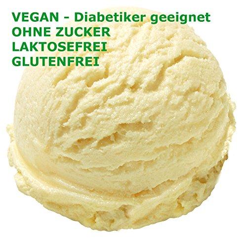 1 Kg Eisbasis für Fruchteis Neutral Geschmack Eispulver VEGAN - OHNE ZUCKER - LAKTOSEFREI - GLUTENFREI - FETTARM, auch für Diabetiker Milcheis Softeispulver Speiseeispulver Gino Gelati