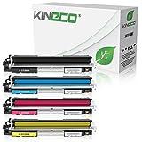 4 Kineco Toner kompatibel mit HP CF350A CF351A CF352A CF353A Color Laserjet Pro MFP M170 Series, Color Laserjet Pro MFP M176n, MFP M177fw - Schwarz 1.300 Seiten, Color je 1.000 Seiten