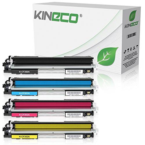 4 Kineco Toner kompatibel zu HP CF350A CF351A CF352A CF353A Color Laserjet Pro MFP M170 Series, Color Laserjet Pro MFP M176n, MFP M177fw - Schwarz 1.300 Seiten, Color je 1.000 Seiten