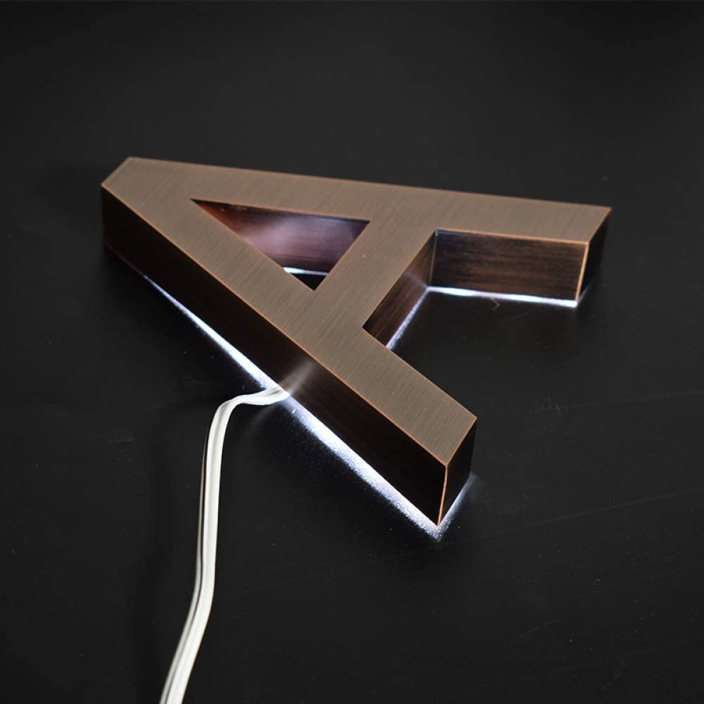 5 Inch 3D Floating Led El Paso Oakland Mall Mall House Plaque P ABC Rose Number 0-9 Letter