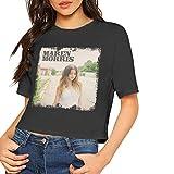 Maren Morris T Shirt Women's Crop Top Short Sleeve T-Shirt Dew Navel Shirts Black