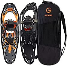 G2 25 Inches Orange Light Weight Snowshoes for Women Men Youth, Set with Tote Bag, Special EVA Padded Ratchet Binding, Heel Lift