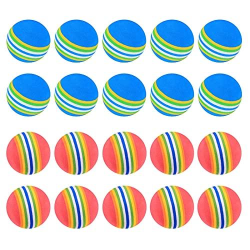 WEIJINGRIHUA Pelota de Golf de Espuma Suave Películas de Golf,Bolas de Ayuda de Entrenamiento de Golf al Aire Libre Interior,para Hombres, jardín, Rojo/Azul. (Size : 20pcs)