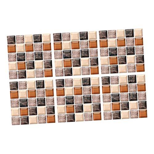 H HILABEE Azulejo de Mosaico Etiqueta de La Pared Peel & Stick Baño Etiqueta Adhesiva 3D Impermeable