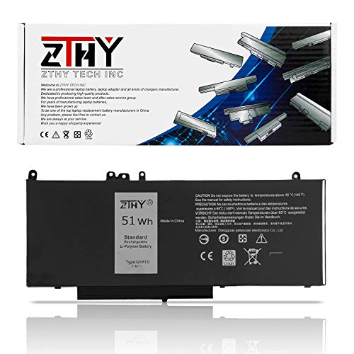 ZTHY 51WH G5M10 Laptop Battery Compatibale with Dell Latitude 14 E5450 Latitude 15 E5550 Notebook 8V5GX R9XM9 WYJC2 1KY05 7.4V 4Cell