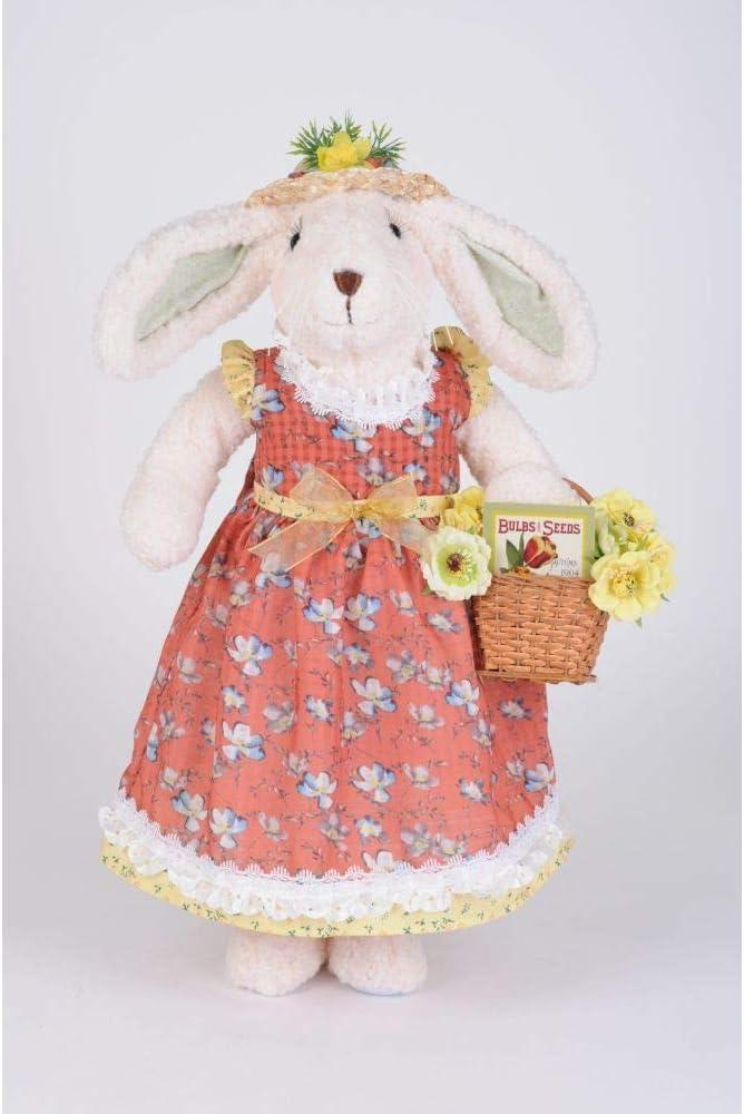 Karen Didion Max Louisville-Jefferson County Mall 60% OFF Originals Flower Basket Figurine 23 Inches Bunny -