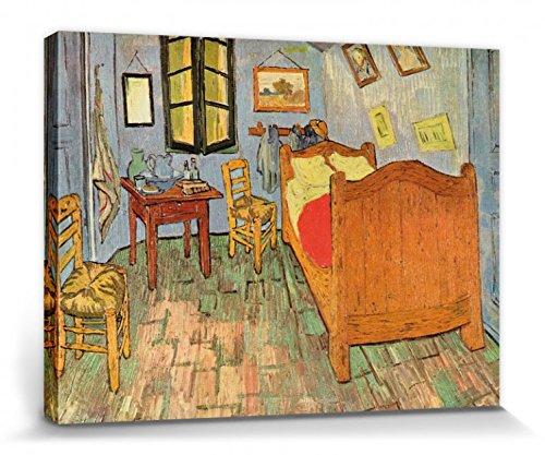 1art1 Vincent Van Gogh - El Dormitorio En Arlés, 1889 Cuadro, Lienzo Montado sobre Bastidor (40 x 30cm)