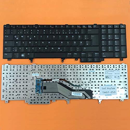 DEUTSCHE - Schwarz Tastatur mit Mausstick, ohne Beleuchtung für Dell Precision M4800