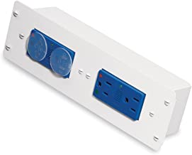 Leviton 47605-DP Double Duplex AC Power Module with Surge Protection, White