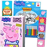 Coloring and Activity Set - Bundle Includes Peppa Pig Coloring Book, Peppa Pig Stickers, and 2-Sided Door Hanger (Peppa Playpack & Coloring Book)